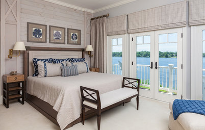 Coastal Chic Style for a Guest Room With Water Views