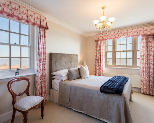 traditional bedroom design. Plain Traditional Design Ideas For A Medium Sized Traditional Guest Bedroom In Cambridgeshire  With Beige Walls Carpet With Traditional Bedroom