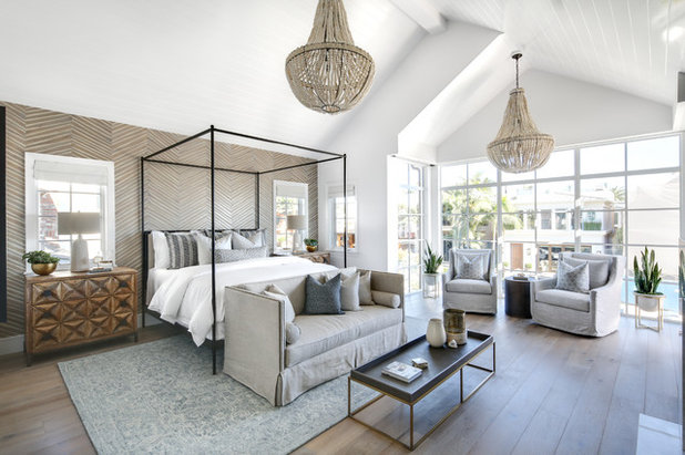 Beach Style Bedroom by Lindye Galloway Interiors