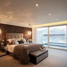 Contemporary Bedroom by Woadden Nash Interiors.