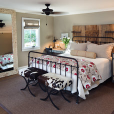 Farmhouse Bedroom by Anne Sneed Architectural Interiors