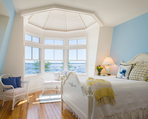 Bedroom   Victorian Bedroom Idea In Providence With Blue Walls