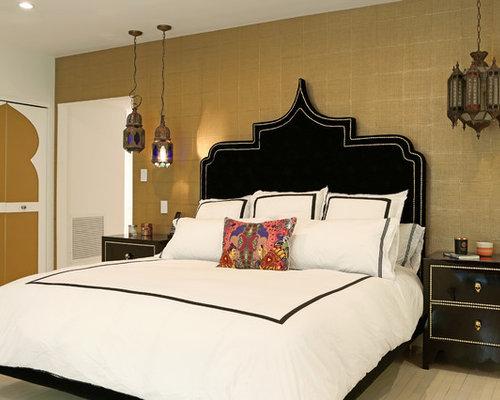 mediterrane schlafzimmer mit porzellan-bodenfliesen - ideen