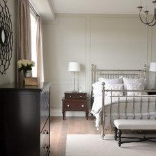 Transitional Bedroom by LVZ Design