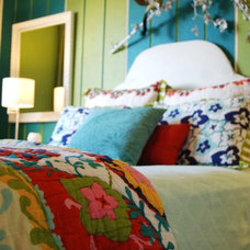 Eclectic Bedroom by Judith Balis Interiors