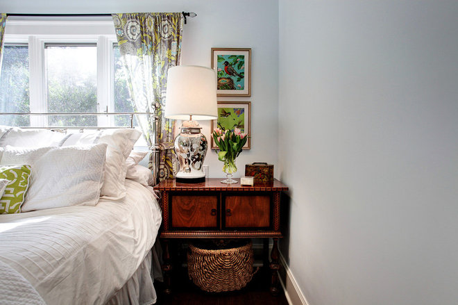 Transitional Bedroom by Stephanie Wiley Photography