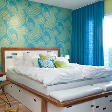 Midcentury Bedroom by Kropat Interior Design