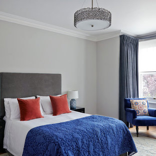 Blue Grey Walls Bedroom Ideas And Photos | Houzz