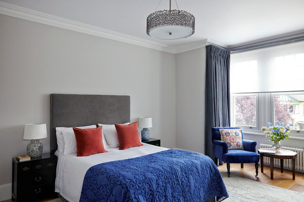 Transitional Bedroom by Space Interior Design Ltd