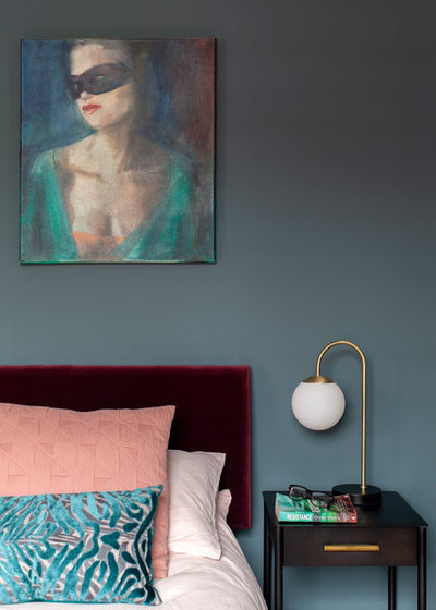 Eclectic Bedroom by Kate Lovejoy Interiors