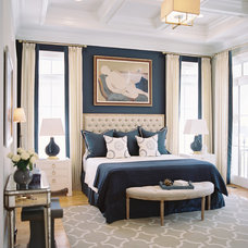 Transitional Bedroom by Steven Ford Interiors