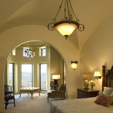 Mediterranean Bedroom by Vanguard Studio Inc.