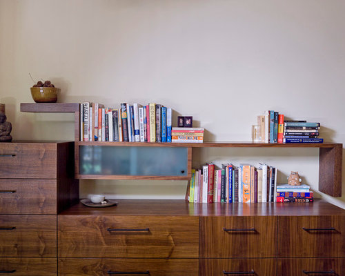 Floating bookcase houzz for Innenarchitektur rathke