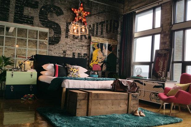 Industrial Dormitorio by teb Interiors Inc.