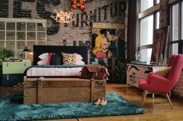 Industrial Bedroom by teb Interiors Inc.