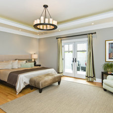 Transitional Bedroom by J K Construction