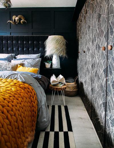 Eclectic Bedroom compact diy bedroom