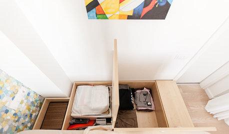 Astuces de rangement : L'estrade pour cacher placards et tiroirs