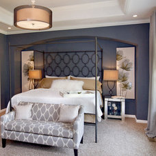 Contemporary Bedroom by Couture Design and Staging
