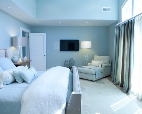 chambre bord de mer bleue photos et id es d co de chambres. Black Bedroom Furniture Sets. Home Design Ideas