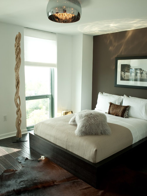 inspiration for a midsized master dark wood floor bedroom remodel in atlanta with