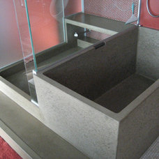 Bedroom concrete tub