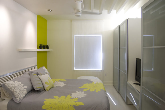 Contemporary Bedroom by NOA Architecture Planning Interiors
