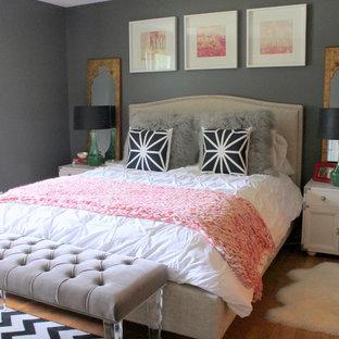 Grey And Pink Bedroom Houzz