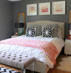eclectic bedroom by Nichole Loiacono Design