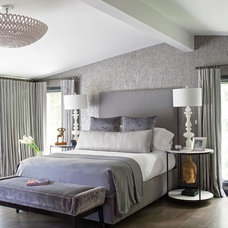 Transitional Bedroom by Susan Anderson Design,   White Birch Studio