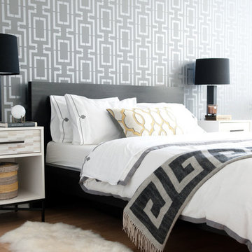 Connection Allover Stenciled Bedroom