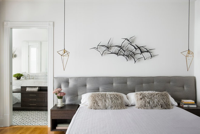Transitional Bedroom by Wick Design