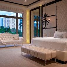 Contemporary Bedroom by Britto Charette Interiors - Miami Florida