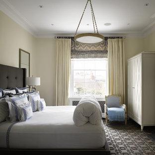 Trendy bedroom photo in Philadelphia with beige walls