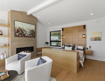 contemporary bedroom design I  Interior Designer Newport Beach