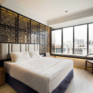 Example of a trendy bedroom design in Singapore
