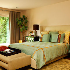 contemporary bedroom by Garrison Hullinger Interior Design Inc.