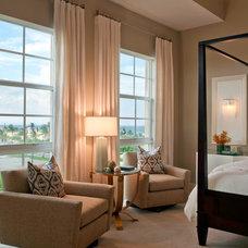Contemporary Bedroom by Garrison Hullinger Interior Design Inc.