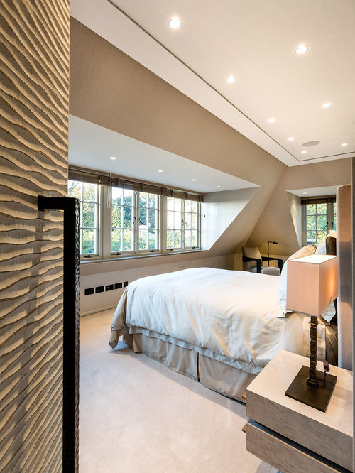 inspiration for a contemporary bedroom in london - Interior Bedroom Design Ideas