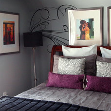 Contemporary Bedroom by Shoshana Gosselin
