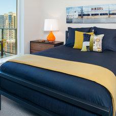Contemporary Bedroom by Michelle Dirkse Interior Design, LLC