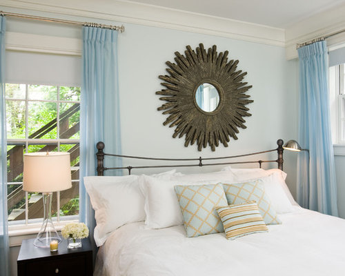 Off center window houzz - Curtain ideas for blue walls ...