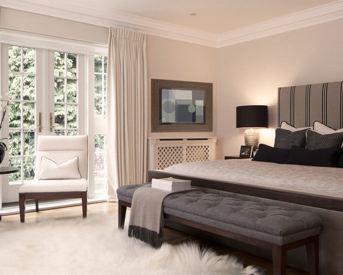 Contemporary Bedroom Idea In London With Gray Walls