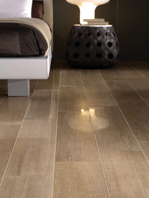 Rectified polished porcelain tile ideas pictures remodel for Modern ceramic tile