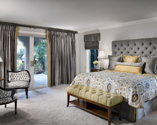 grey and gold bedroom home design ideas pictures remodel and decor. Black Bedroom Furniture Sets. Home Design Ideas