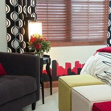 Contemporary Bedroom by Suzan J Designs - Decorating Den Interiors