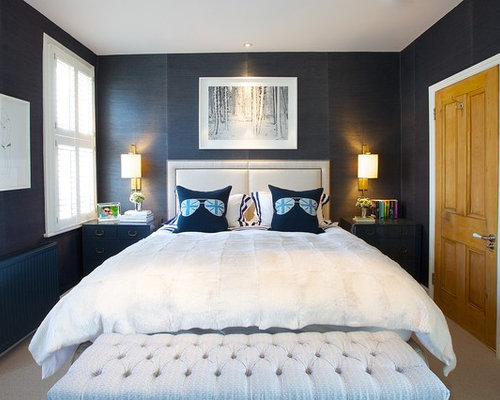 dark blue bedroom home design ideas pictures remodel and decor