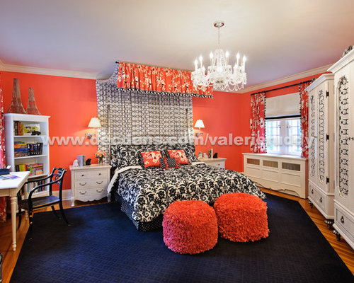 Example Of A Trendy Bedroom Design In Newark