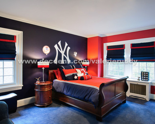 saveemail contemporary bedroom - New York Yankees Bedroom Decor