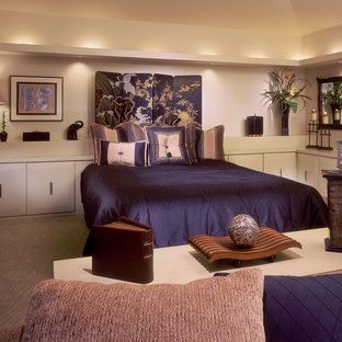 Contemporary bedroom with an oriental flair